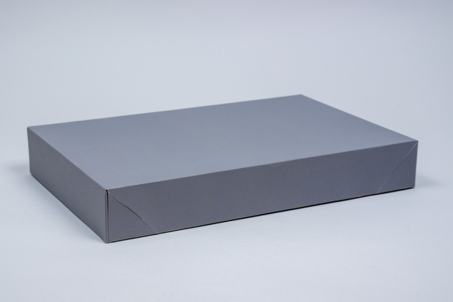 19 x 12 x 3 SLATE GRAY APPAREL BOX