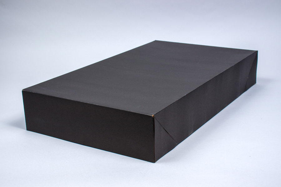 24 x 14 x 4 BLACK PINSTRIPE APPAREL BOX