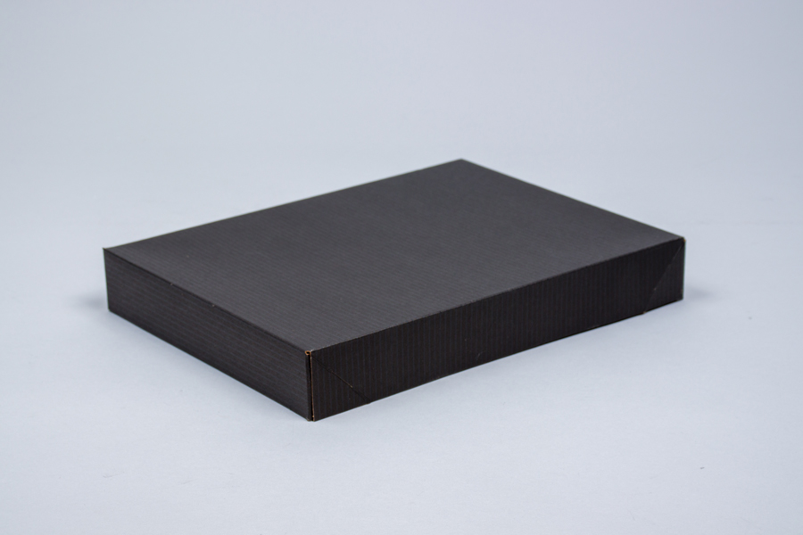11.5 x 8.5 x 1.6 BLACK PINSTRIPE APPAREL BOX