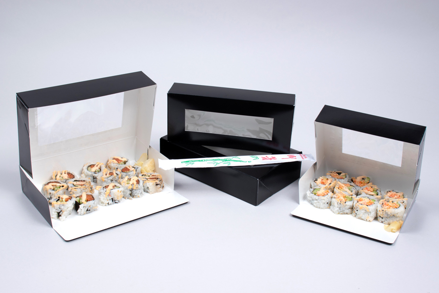 Sushi Boxes with View Windows