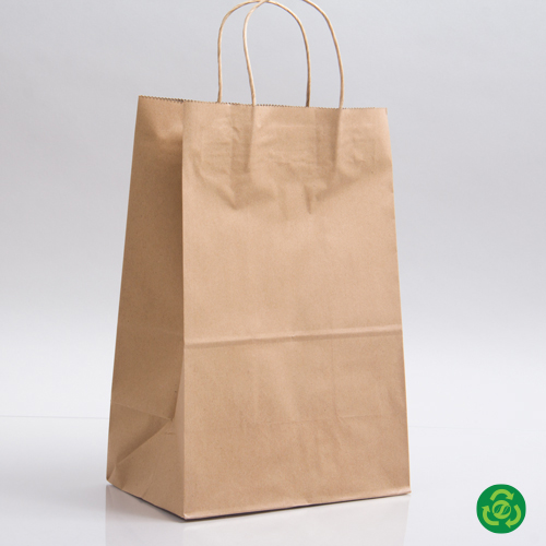9 x 5.75 x 13.5 ECONOMY NATURAL KRAFT PAPER SHOPPING BAGS ***LIMITED AVAILABILITY***