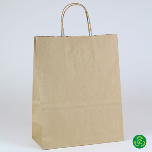 10 x 5 x 13 ECONOMY NATURAL KRAFT PAPER SHOPPING BAGS