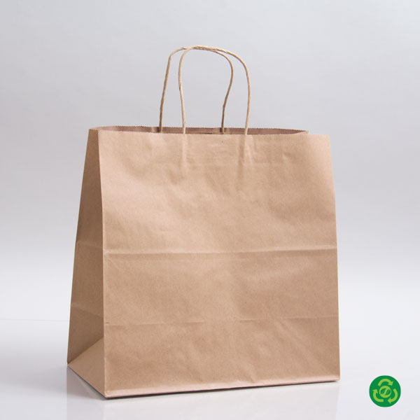 12 x 10 x 12 ECONOMY NATURAL KRAFT PAPER SHOPPING BAGS - ***LIMITED AVAILABILITY***