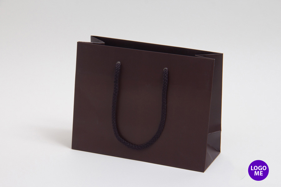 9 x 3.5 x 7 MATTE CHOCOLATE EUROTOTE SHOPPING BAGS ***LIMITED AVAILABILITY***