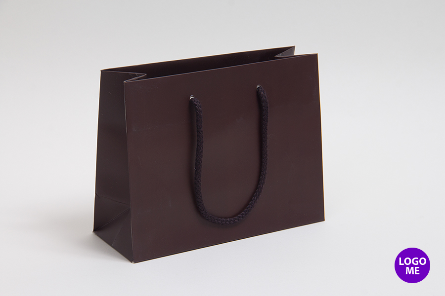 16 x 6 x 12 MATTE CHOCOLATE EUROTOTE SHOPPING BAGS ***LIMITED AVAILABILITY***