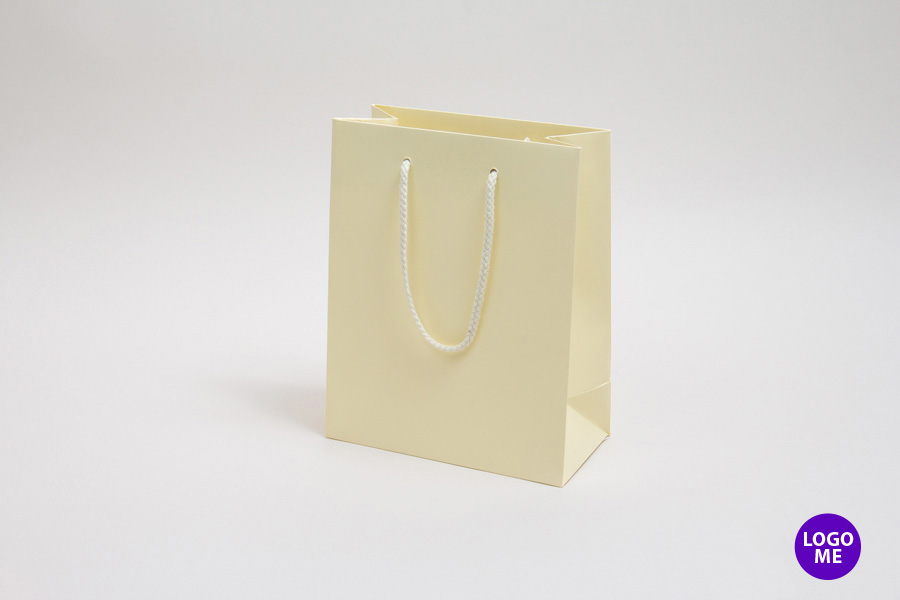 8 x 4 x 10 MATTE IVORY EUROTOTE SHOPPING BAGS ***LIMITED AVAILABILITY***