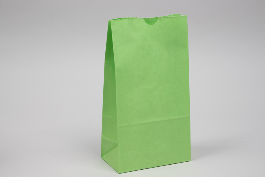 6# - 6 x 3-5/8 x 11-1/6 LIME GREEN SOS PAPER BAGS