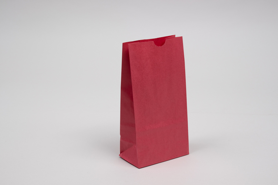 2# - 3- 1/4 x 2-3/8 x 8- 3/16 RED SOS PAPER BAGS