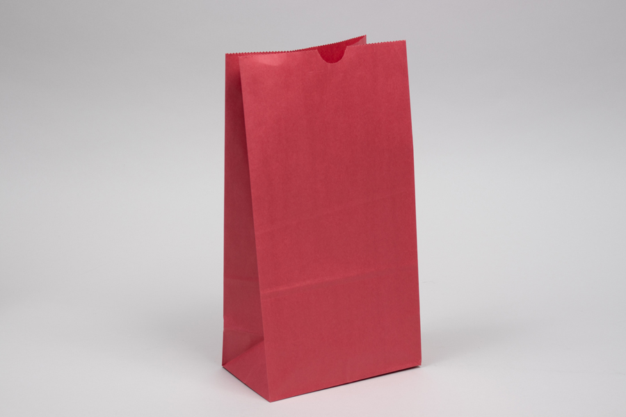 6# - 6 x 3-5/8 x 11-1/6 RED SOS PAPER BAGS