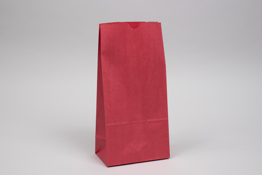 8# - 6-1/4 x 3-13/16 x 12-1/2 RED SOS PAPER BAGS
