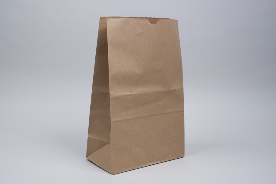 11 x 6 x 17 MODIFIED 1/6 BARREL NATURAL KRAFT SOS PAPER BAGS