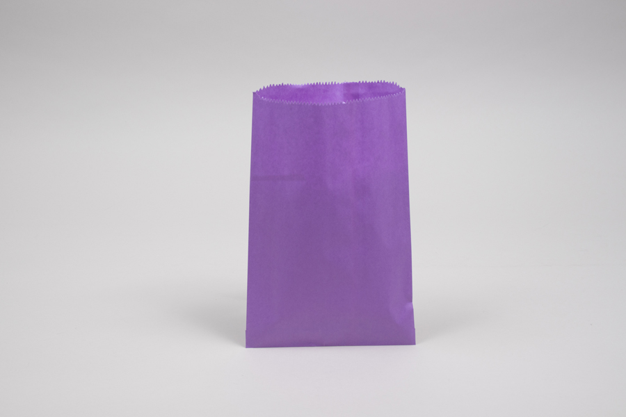 6.25 x 9.25 PURPLE PAPER MERCHANDISE BAGS