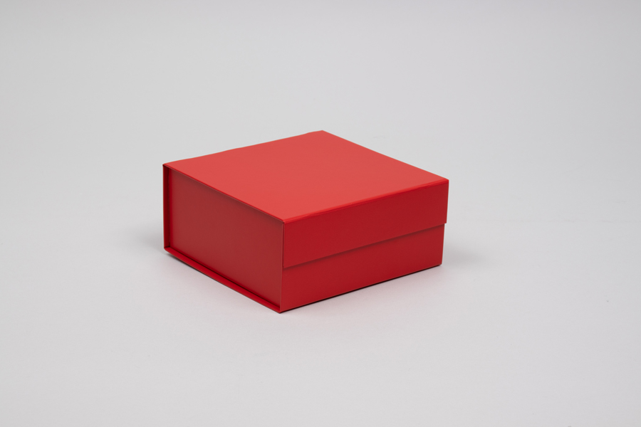 6 x 6 x 2-3/4 MATTE RED MAGNETIC LID GIFT BOXES