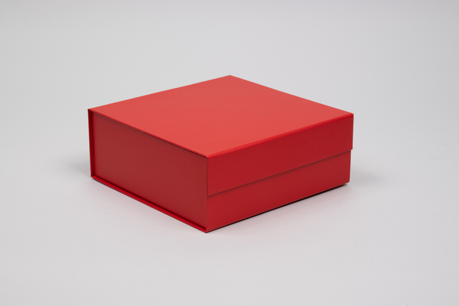 8 x 8 x 3-1/8 MATTE RED MAGNETIC LID GIFT BOXES