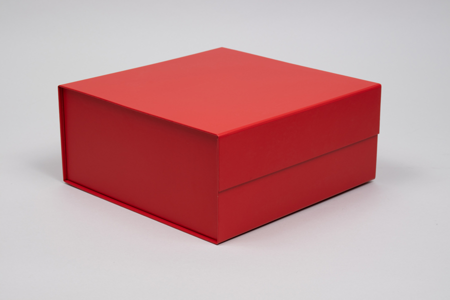 10 x 10 x 4-1/2 MATTE RED MAGNETIC LID GIFT BOXES