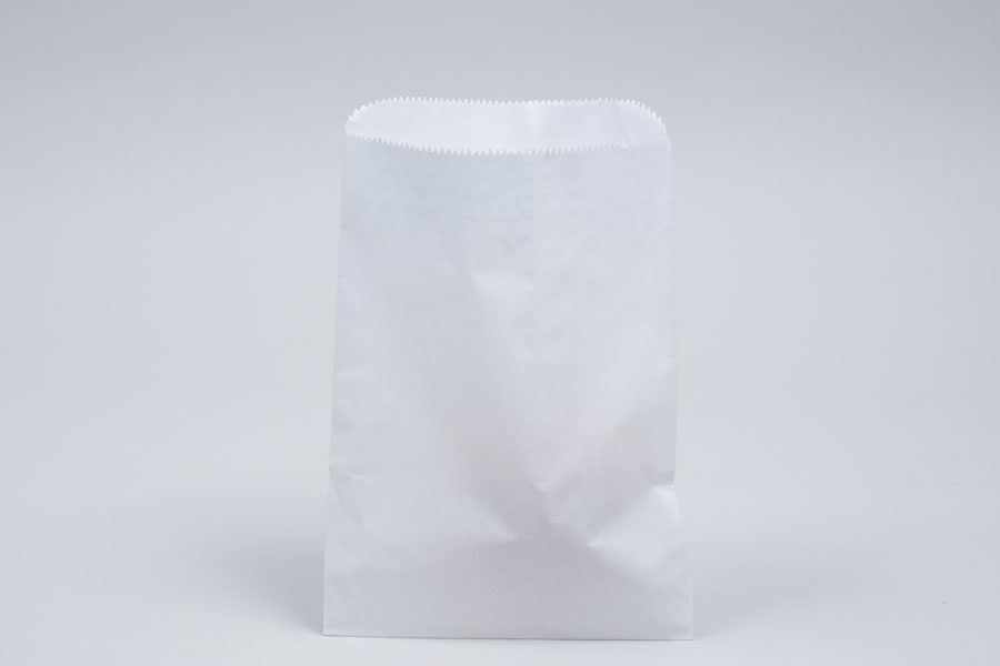 1# - 6-3/4 x 9-1/4 WHITE GLASSINE LINED GOURMET MERCHANDISE BAGS