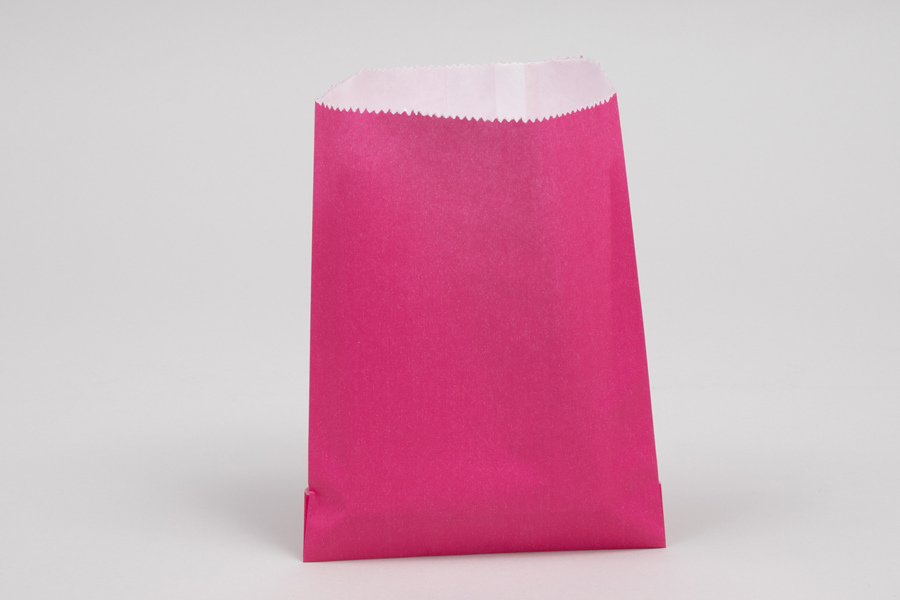 1/2# - 5-3/4 x 7-1/2 WILD ROSE GLASSINE LINED GOURMET MERCHANDISE BAGS