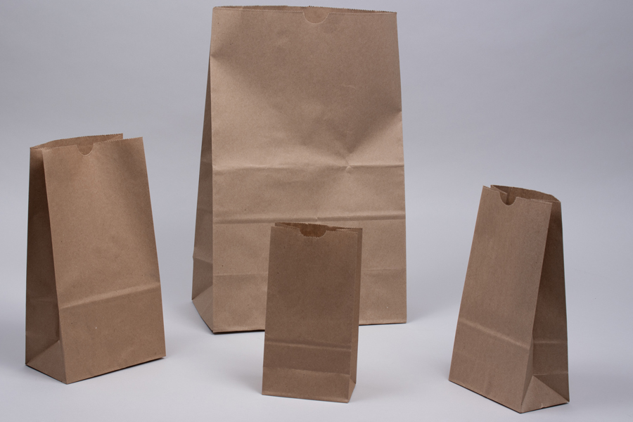 Paper SOS Grocery Bags - Natural Kraft