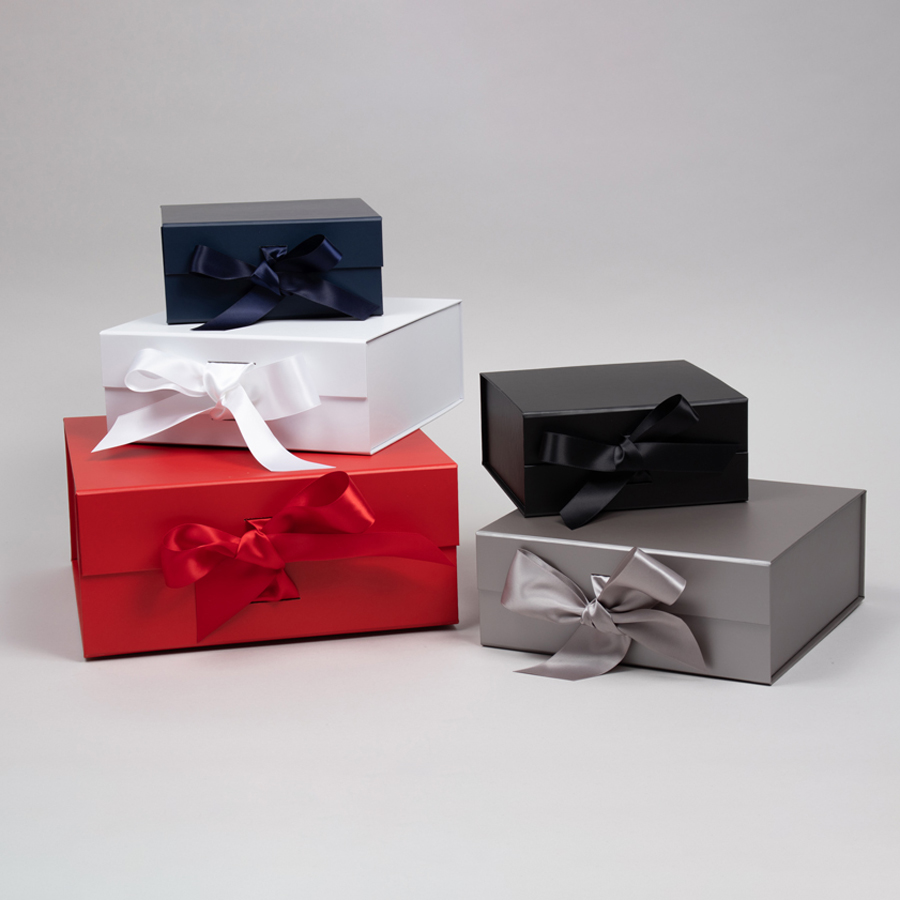 MC - Paper Boxes - Magnetic - Scratch Resistant with Satin Ribbon