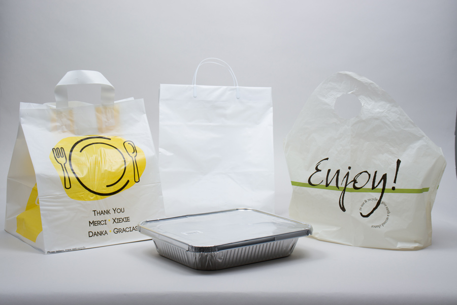 Plastic Takeout and Catering Bags
