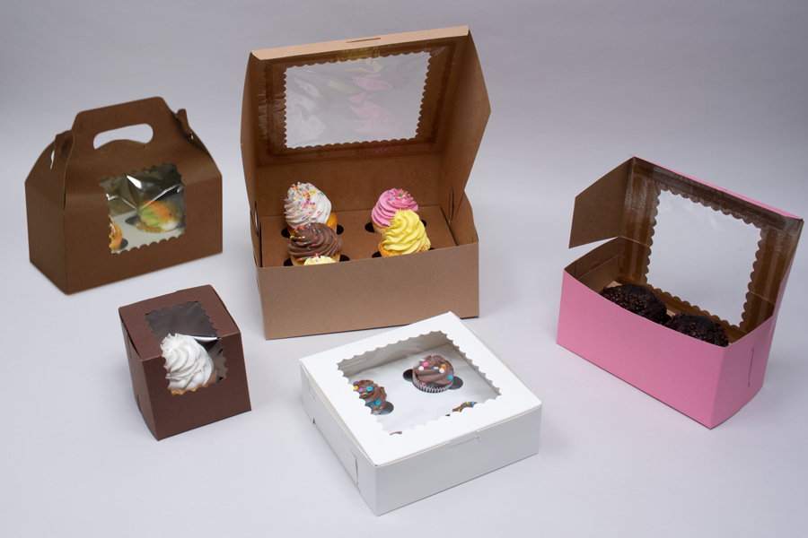 Windowed Cupcake Boxes & Inserts