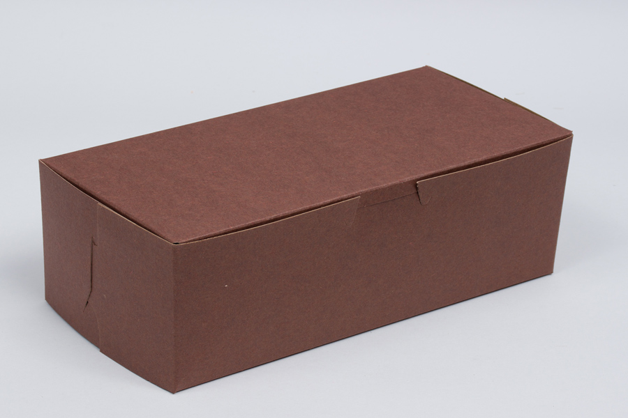 6-1/4 x 3-3/4 x 2-1/8 CHOCOLATE ONE-PIECE BAKERY BOXES