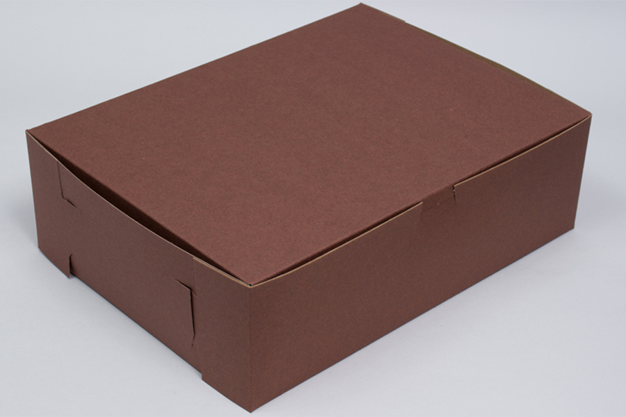 8 x 5-1/2 x 3 CHOCOLATE ONE-PIECE BAKERY BOXES