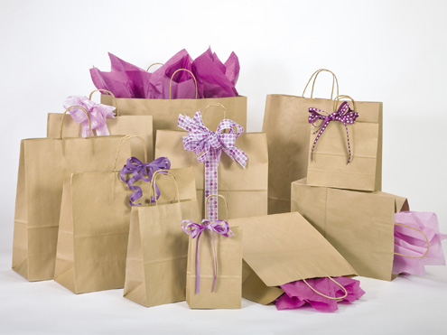 MC - Paper Shopping Bags - 51% Natural Kraft Recycled