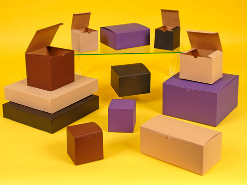 Color Tinted Natural Kraft Giftware Boxes