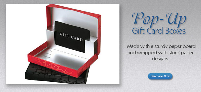 Gift Card Presentation Boxes Presentation Pop up Gift Card