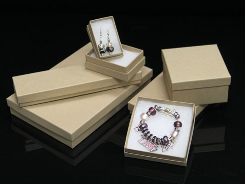 MC - Paper Boxes - Jewelry - Natural Kraft