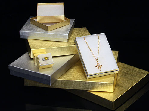 MC - Paper Boxes - Jewelry - Textured Foils