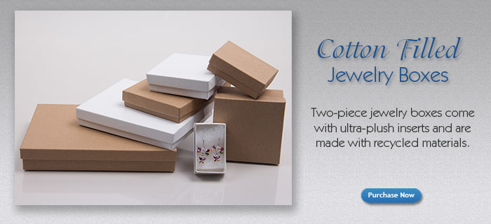 Cotton Filled Jewelry Boxes