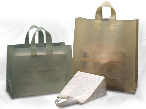 Frosted Soft Loop Plastic Shopping Bags