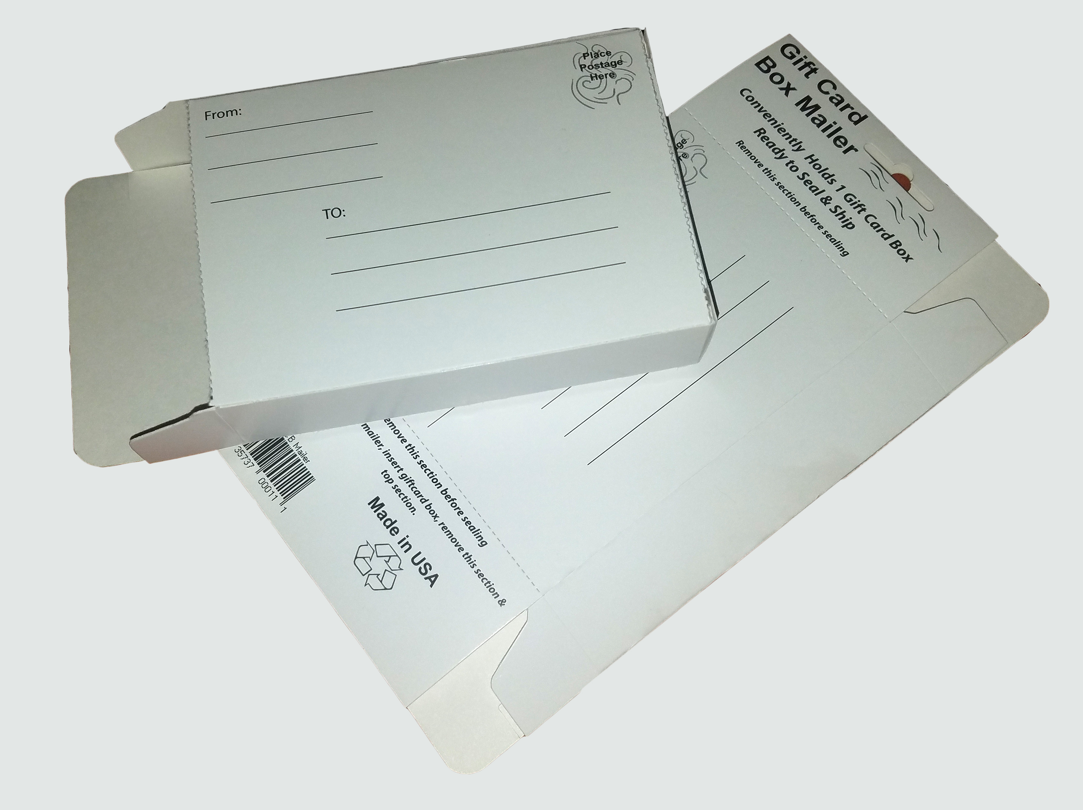 GIFT CARD BOX MAILER - WHITE