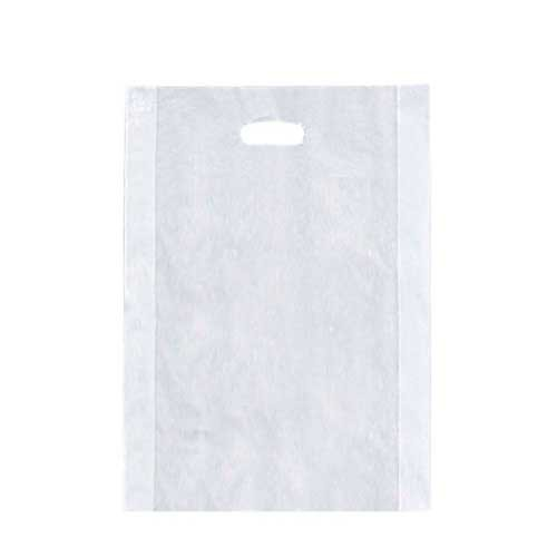 14 x 3 x 21 CLEAR FROSTED PLASTIC MERCHANDISE BAGS