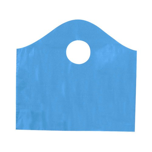 12 x 11 x 4 LAGOON BLUE FROSTED WAVETOP PLASTIC BAGS