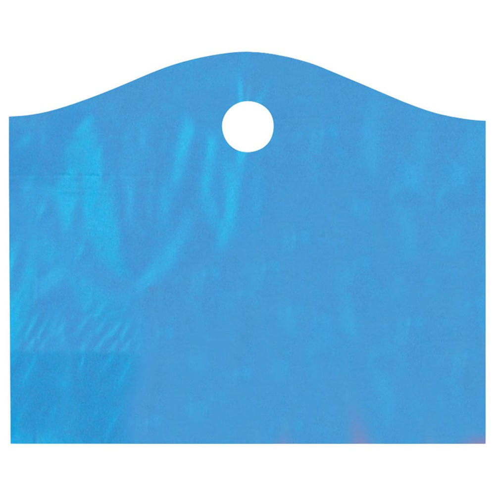 22 x 18 x 8 LAGOON BLUE FROSTED WAVETOP PLASTIC BAGS