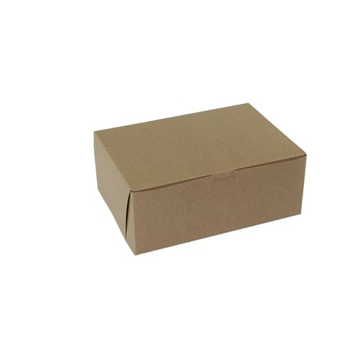 10 x 7 x 4 NATURAL KRAFT ONE-PIECE BAKERY BOXES