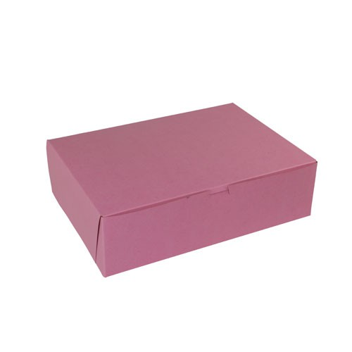 14 x 10 x 4 (1/4 SHEET) STRAWBERRY ONE-PIECE BAKERY BOXES