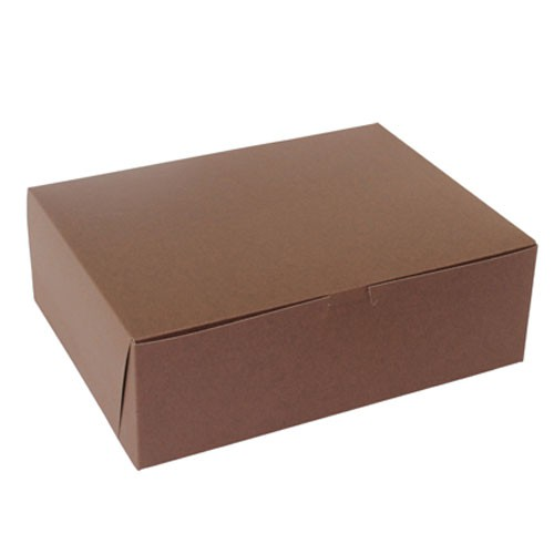 12 x 9 x 4 CHOCOLATE ONE-PIECE BAKERY/CUPCAKE BOXES
