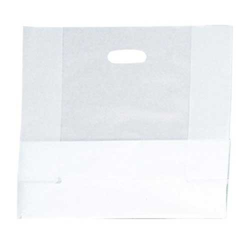 16 x 6 x 15 CLEAR FROSTED PLASTIC TOTE BAGS