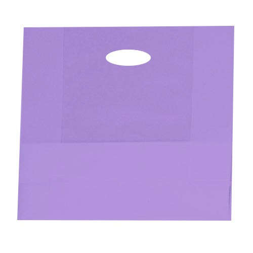 16 x 6 x 15 GRAPE FROSTED PLASTIC TOTE BAGS