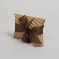 4.5 x 4.5 x 1.5 NATURAL KRAFT CORRUGATED PILLOW BOXES