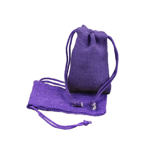 3 x 5 PURPLE DRAWSTRING JUTE POUCHES