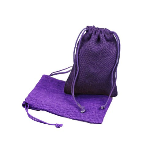 5 x 7 PURPLE DRAWSTRING JUTE POUCHES