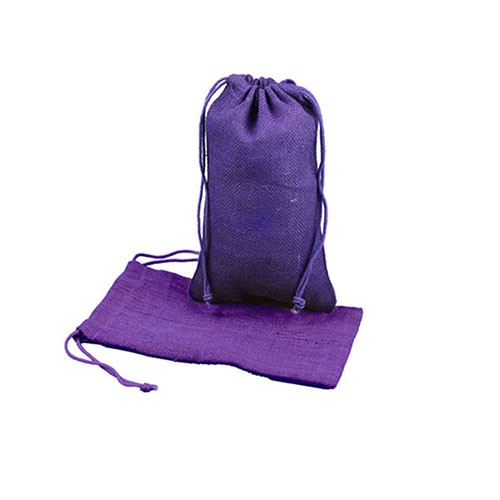 6 x 10 PURPLE DRAWSTRING JUTE POUCHES