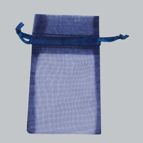 5.5 x 9 NAVY BLUE SHEER ORGANZA POUCHES