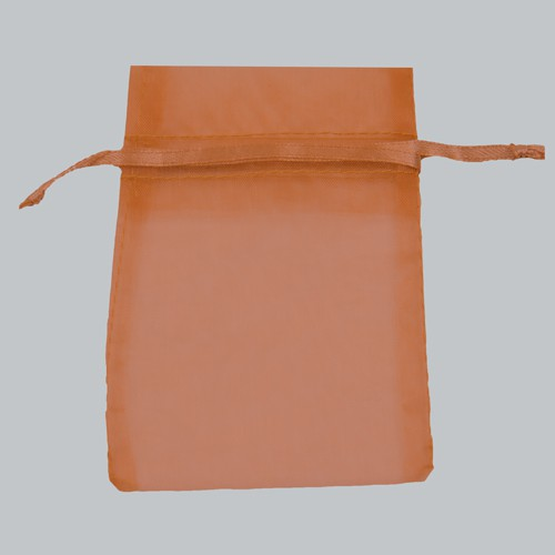 3 x 4 COPPER SHEER ORGANZA POUCHES