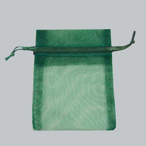 3 x 4 HUNTER GREEN SHEER ORGANZA POUCHES